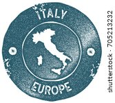 italy map vintage stamp. retro... | Shutterstock .eps vector #705213232