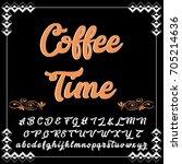 handcrafted vector script... | Shutterstock .eps vector #705214636