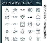 year icons set. collection of...   Shutterstock .eps vector #705219055