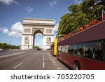 view on the triumphal arch and... | Shutterstock . vector #705220705