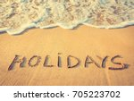 holidays concept. a wave and... | Shutterstock . vector #705223702