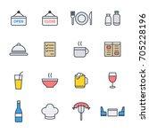 restaurant icon set suitable... | Shutterstock .eps vector #705228196