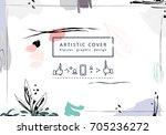 creative universal floral...   Shutterstock .eps vector #705236272