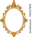 gold vintage frame isolated on... | Shutterstock .eps vector #705237895