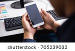 businessman using mobile phone... | Shutterstock . vector #705239032