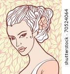vintage beauty | Shutterstock .eps vector #70524064