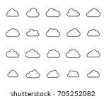 premium set of cloud line icons....   Shutterstock .eps vector #705252082