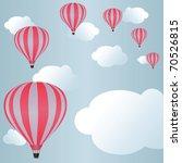 hot air balloons among clouds... | Shutterstock .eps vector #70526815