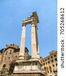 templi di apollo sosiano e di... | Shutterstock . vector #705268612