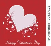 valentine's day card with heart   Shutterstock .eps vector #70527121