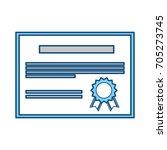 diploma education certification | Shutterstock .eps vector #705273745