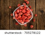 strawberries  dried  as high... | Shutterstock . vector #705278122