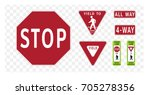 regulatory traffic sign. stop... | Shutterstock .eps vector #705278356