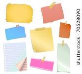 note paper vector | Shutterstock .eps vector #70528090