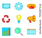 clear data icons set. cartoon... | Shutterstock .eps vector #705287116