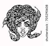 hand drawn beautiful artwork of ... | Shutterstock .eps vector #705290608