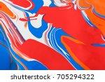 liquid marbling paint...   Shutterstock . vector #705294322