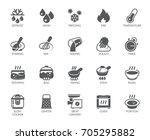 icons set of household... | Shutterstock .eps vector #705295882
