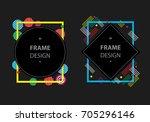 modern frame  vector | Shutterstock .eps vector #705296146