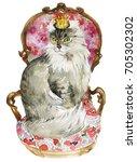 King American Curl Cat Sitting...