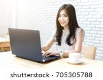 confident young woman in smart... | Shutterstock . vector #705305788