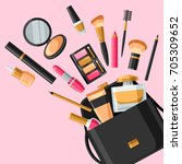 cosmetics for skincare and... | Shutterstock .eps vector #705309652