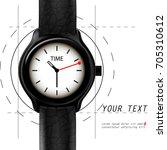 realistic vector luxury steel...   Shutterstock .eps vector #705310612