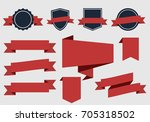 vector ribbons banners and... | Shutterstock .eps vector #705318502