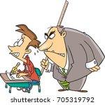 cartoon student taking an exam...   Shutterstock .eps vector #705319792