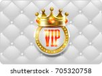 vip card with gold elements | Shutterstock . vector #705320758
