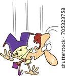 cartoon man falling in mid air | Shutterstock .eps vector #705323758