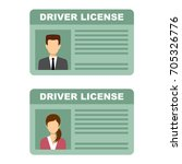 driving license of the man and... | Shutterstock .eps vector #705326776