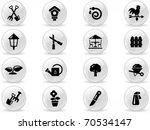 web buttons  gardening symbol   Shutterstock .eps vector #70534147