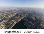 aerial view of silver lake ... | Shutterstock . vector #705347668