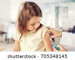 vaccine. | Shutterstock . vector #705348145