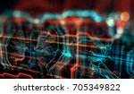 abstract technological... | Shutterstock . vector #705349822