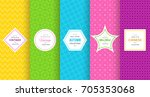 cute bright seamless pattern... | Shutterstock .eps vector #705353068