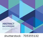 abstract geometry background. | Shutterstock .eps vector #705355132
