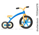 vector kids tricycle icon.... | Shutterstock .eps vector #705364378