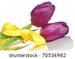 Fresh Purple Spring Tulips Tie...