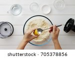 step by step recipe galette or...   Shutterstock . vector #705378856