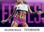 woman fitness time   3d... | Shutterstock . vector #705380698