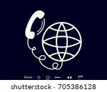 phone  globe  icon  vector... | Shutterstock .eps vector #705386128
