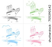 set of four icons of the...   Shutterstock .eps vector #705390142
