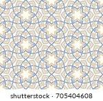 arabesque floral pattern.... | Shutterstock .eps vector #705404608