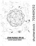 plexus.abstract background.... | Shutterstock .eps vector #705409252