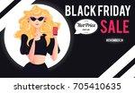 black friday sale inscription... | Shutterstock .eps vector #705410635