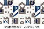 seamless vector pattern.... | Shutterstock .eps vector #705418726