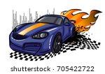 t shirt design with moving... | Shutterstock .eps vector #705422722