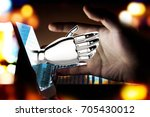 robotic   artificial... | Shutterstock . vector #705430012
